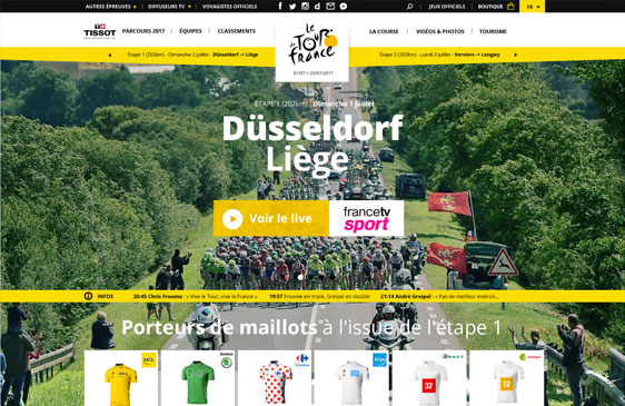 Relooking site web tour de france